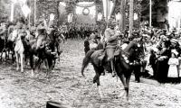 Retour de l'armée serbe victorieuse